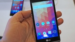 LG Leon Hands On Review - MWC 2015