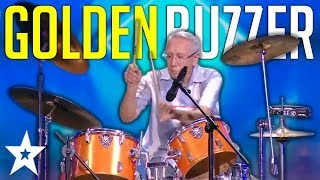 UNEXPECTED 80 Year Old Drummer Gets GOLDEN BUZZER On Central Asia's Got Talent | Got Talent Global