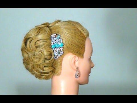 Вечерняя прическа на длинные волосы! Wedding prom hairstyle tutorial