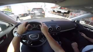 Audi A3 1.4 TURBO Sedan Tiptronic Test Drive Onboard POV GoPro + Comentários