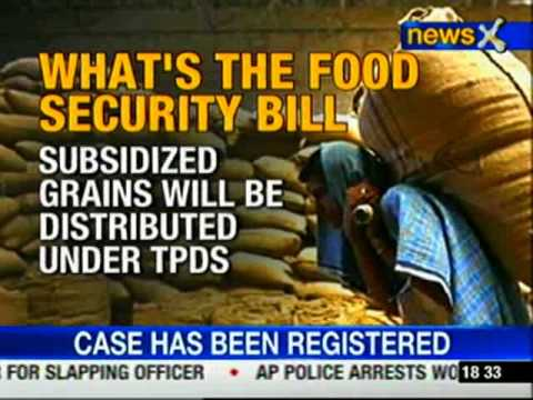 What is food security bill?