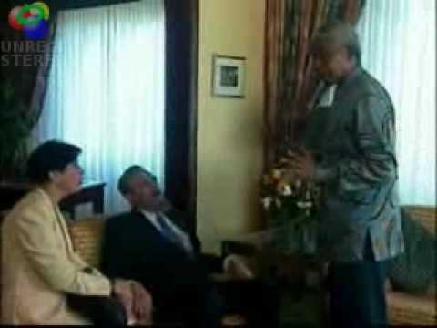 Fidel Castro in South Africa with Nelson Mandela