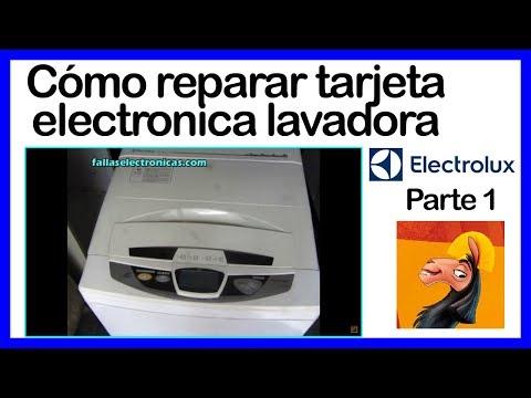 Como reparar tarjeta de lavadora Electrolux 1era. parte (fallaselectronicas.com)