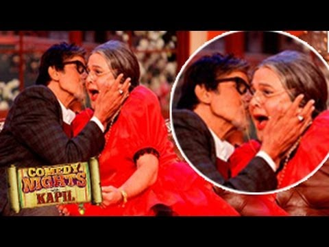 Amitabh Bachchan's HOT KISS with Daadi on Comedy Nights with Kapil 6th April 2014 EPISODE