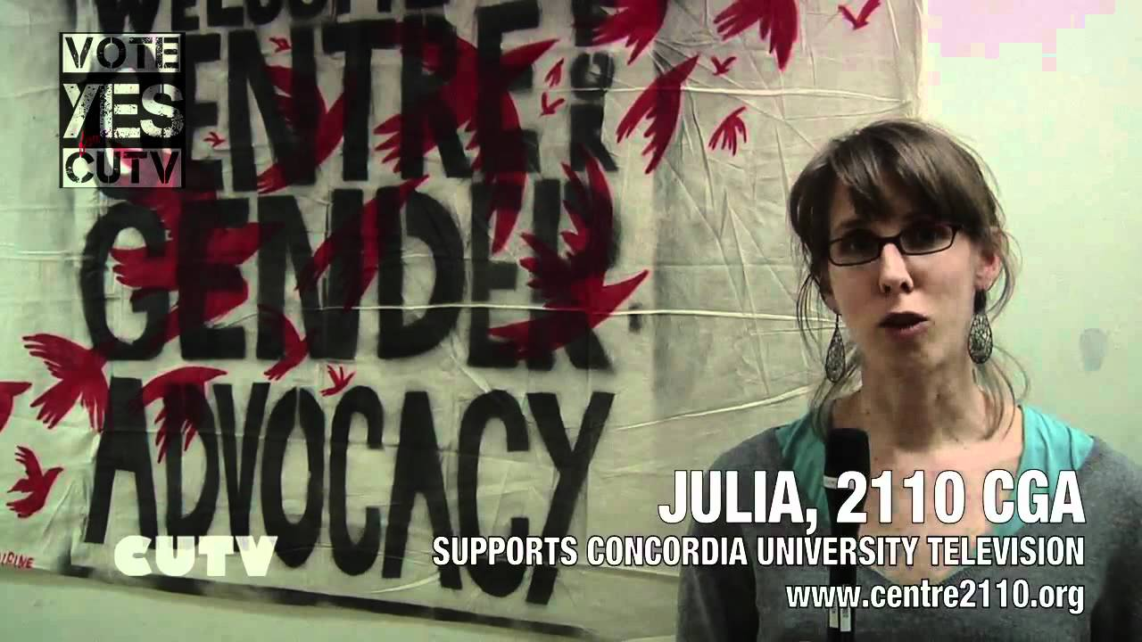 Julia 2110 Centre Gender for Advocacy - Supports CUTV Fee Levy Campain - VOTE YES -