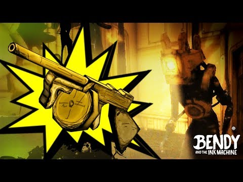 How to Unlock the Tommy Gun & Defeat the Projectionist! (Bendy & the Ink Machine Chapter 3 Secrets)