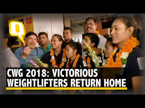 CWG 2018: Victorious Weightlifters Return To India, Now Eye Golden Run At Asian Games