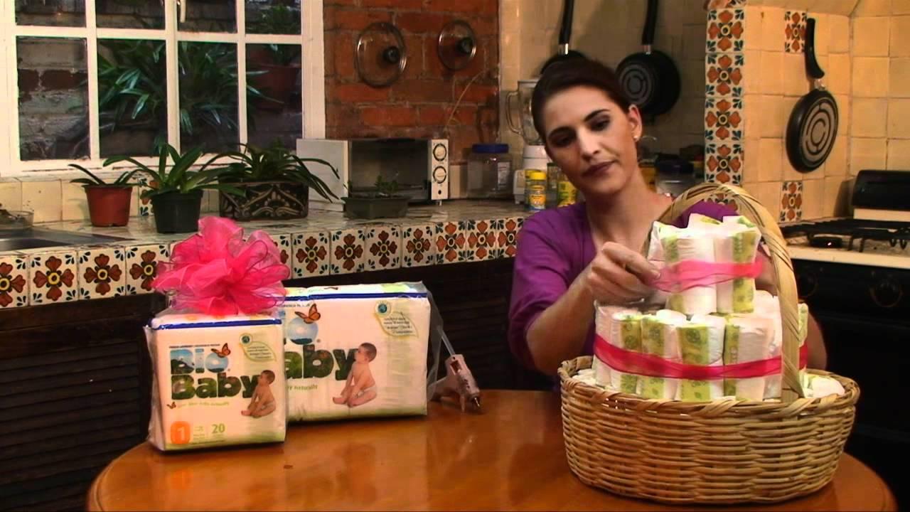 arreglo de canasta con pa ales para baby shower youtube