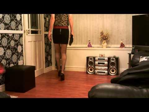 Crossdresser in a Mini Skirt and Black Heels 10/09/2014