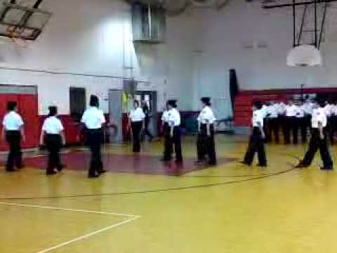Annual Military Inspection -2010 Gainesville High School NJROTC performs for