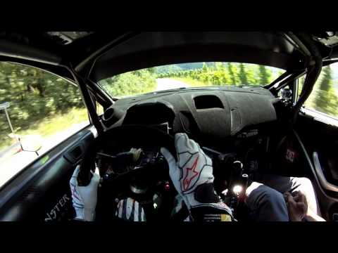 Ken Block s first tarmac test of the Ford Fiesta RS WRC with GoPro helmet cam HD