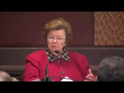 Senator Barbara Mikulski's Remarks at the Forum on the Future of Social Security