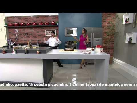 Receitas bom sabor - 19/12/2014 - Peito de peru com farofa de banana nanica