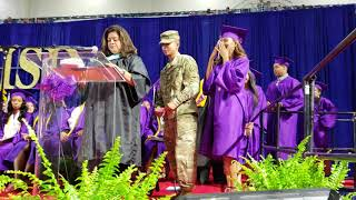 Soldier surprises sister at high School graduation