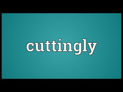 Header of cuttingly