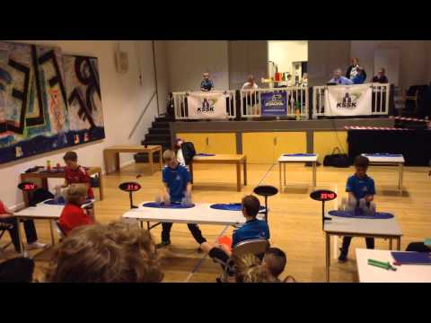 Knock out competition, speedstacking, KSSK. Denmark, Lyngby.