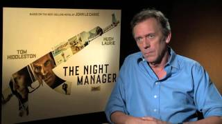 "Hugh Laurie dishes villainous role in AMC limited series ""The Night Manager"""