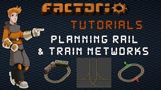 Factorio Train Tutorial - Planning A Rail Network : Junction Spacing, Train Size & Mainline