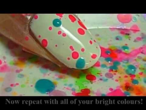 Fun and Easy Splatter Party Nail Tutorial - Vicces party körmök
