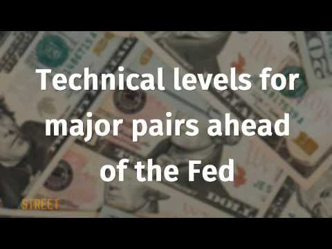 Technical levels for major pairs ahead of the Fed