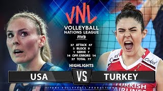 USA vs TURKEY - HIGHLIGHTS | Women's VNL 2019