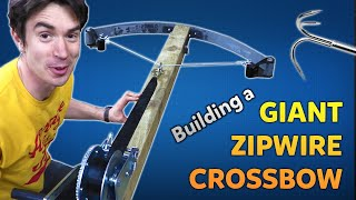 Building a GIANT Zipwire Crossbow! | Kids Invent Stuff