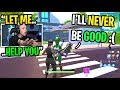 This kid wants to QUIT Fortnite until I said THIS to change his life... (emotional)