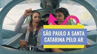 Como viajamos em um monomotor de São Paulo até Santa Catarina.