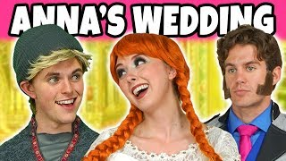 ANNA MARRY KRISTOFF OR HANS? (Frozen Anna and Elsa at the Wedding) Totally TV