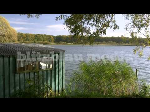 Stock Footage Europe Germany Boat House Mecklenburg Lake District Bootshaus Urlaub Travel Seenplatte