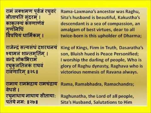 For Sadhana Full Shri Rama Raksha Stotram Devanagari