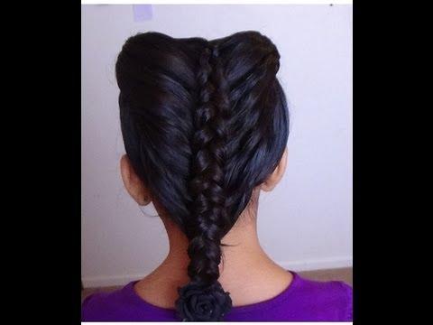 TRENZA DE COLETAS  (peinados faciles y rapidos)