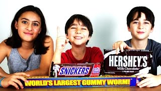 The Worlds Largest Gummy Worm and Other Big Candy
