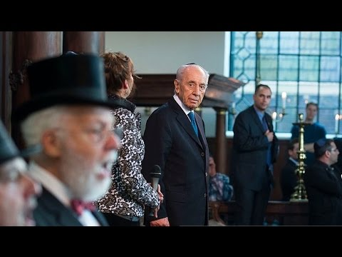 Shimon Peres bezoekt de Portuges joodse Synagoge