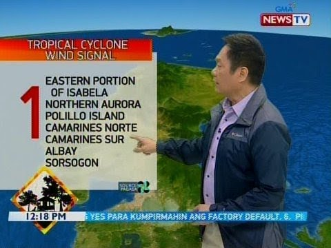BT Weather update as of 1218 PM November 14, 2019