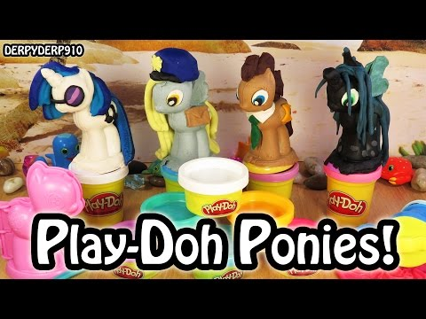 Play-doh Make 'n Style My Little Pony Mlp Derpy Dr. Hooves Djpon3 Chrysalis Toy Review Tutorial video