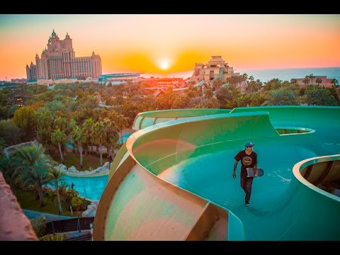 КАТАЕМСЯ НА СКЕЙТАХ В АКВАПАРКЕ : ЖИНь В ДУБАЕ : WATER PARK LOCKDAWN