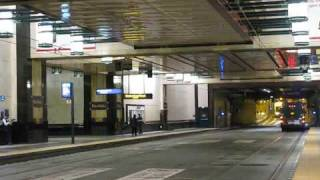 Link light rail and buses in Westlake Station