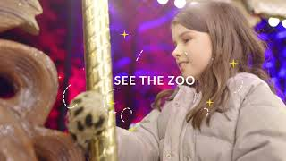See the zoo in a whole new light. Elmwood Park Zoo's Wild Lights