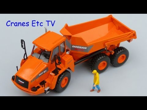This is the Cranes Etc TV review of NZG's 1/50 scale model of the Doosan Moxy MT 31 Articulated Dump Truck. The model number is 820. The full review is on th...