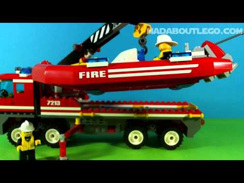 LEGO CITY FIRE TRUCK and FIREBOAT 7213