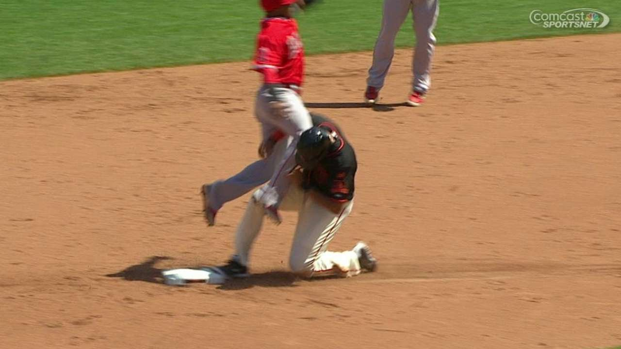 LAA@SF: Out call at second overturned in 5th