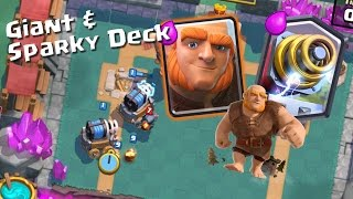 Clash Royale - AMAZING UNDEFEATED GIANT & SPARKY TOURNAMENT DECK?! (Arena 9, 10 & 11) May 2017
