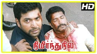 Nimirnthu Nil Climax Scene | Look alike of Jayam Ravi is attacked | People get Justice