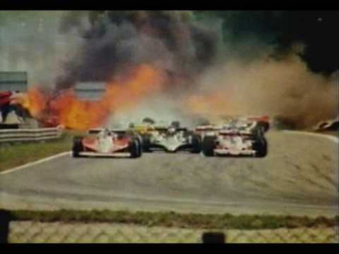 James Hunt collided with Roonie Peterson, Riccardo Patrese, Vittorio Brambilla, Hans-Joachim Stuck, Patrick Depailler, Didier Pironi, Derek Daly, Clay Regazzoni and Brett Lunger all involved...