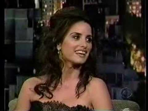 Penelope Cruz on Letterman Show Part 1