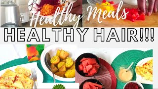 GROWING HEALTHY HAIR BY EATING HEALTHY - A BREAKFAST MEAL