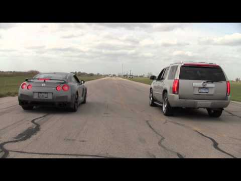 Nissan GT-R vs. Hennesey Cadillac Escalade Music Videos