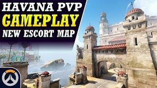 Overwatch - Havana Gameplay (New PvP Escort Map)