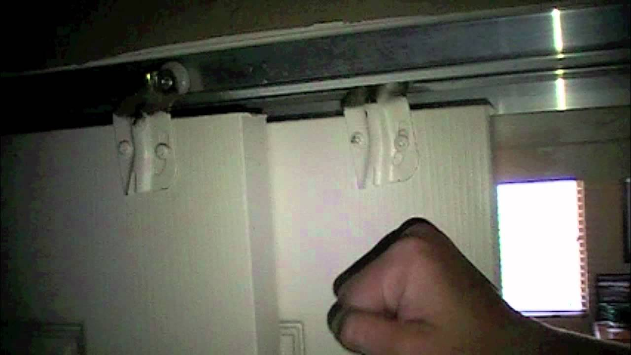 How To Reattach A Closet Door Youtube